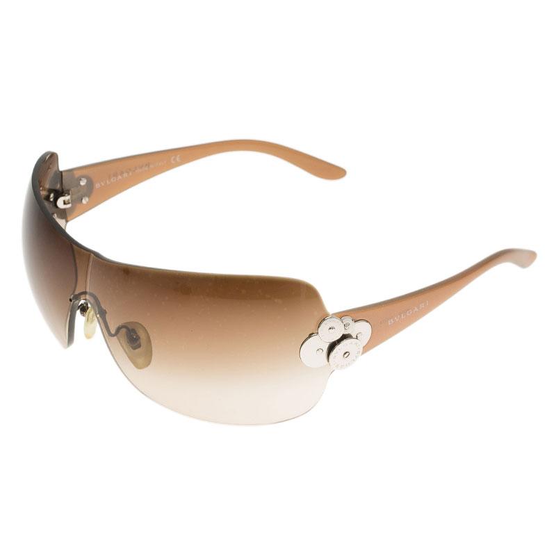 Bvlgari Brown 6009 Shield Sunglasses
