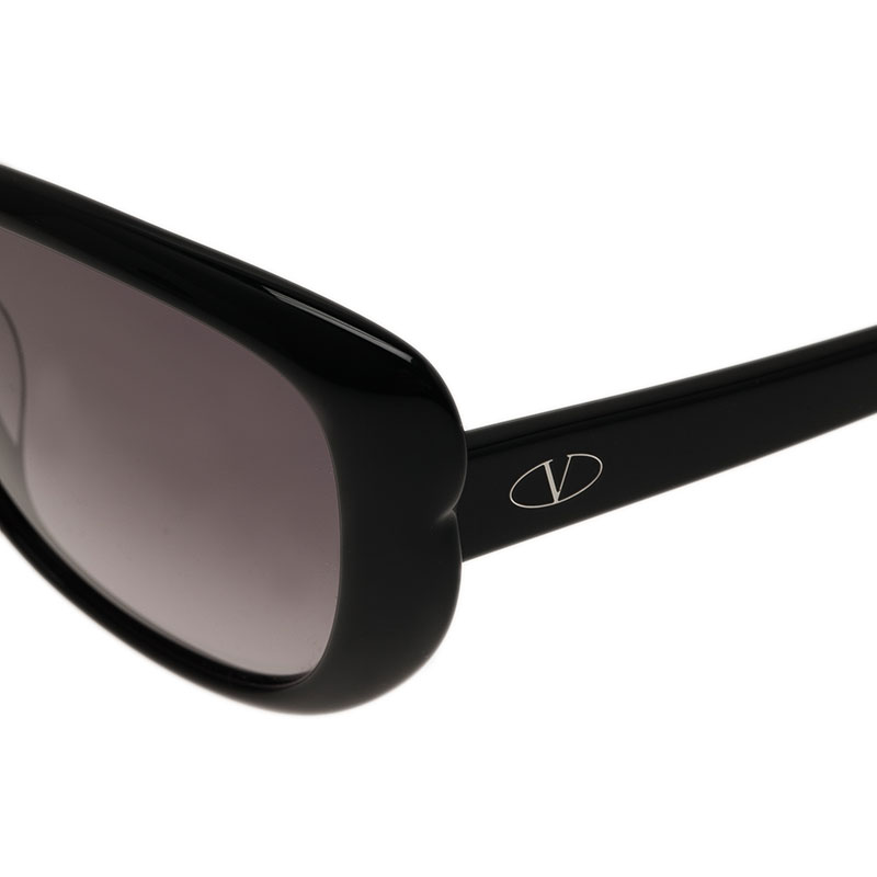 Valentino Black V644S Oval Cat Eye Sunglasses