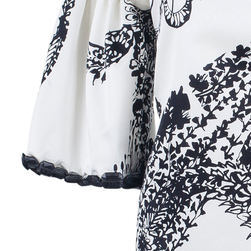 Giambattista Valli Monochrome Bell Sleeve Dress M