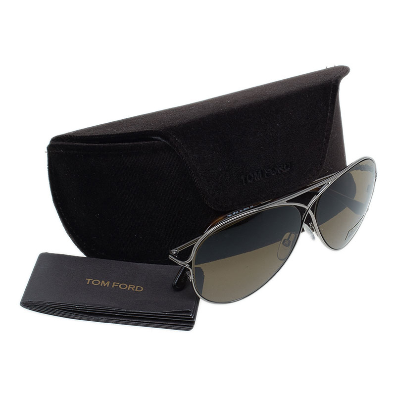 Tom Ford Silver Peter Aviators