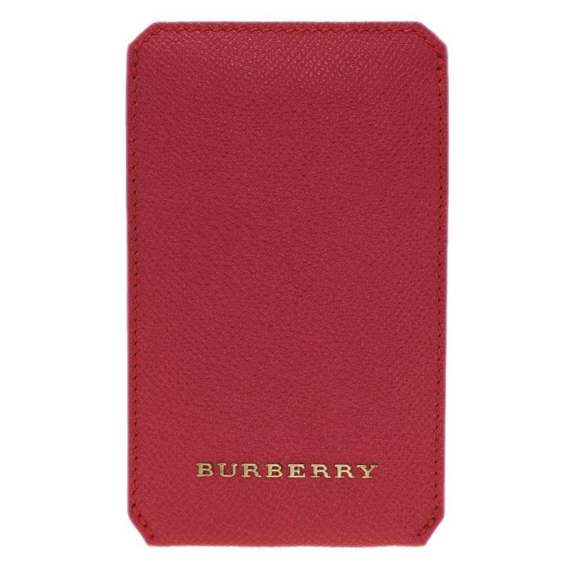 Burberry Pink Leather Carlington iPhone Case