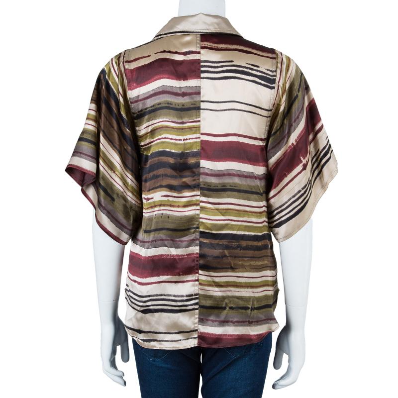 Kenzo Multicolor Striped Top M