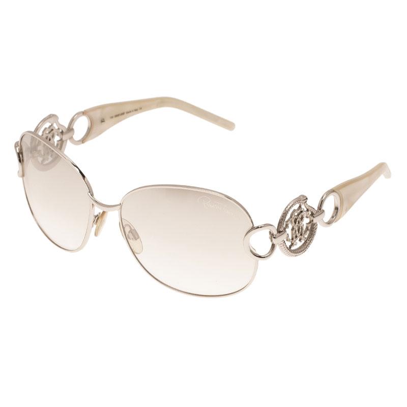 Roberto Cavalli Silver Acquamarina Sunglasses