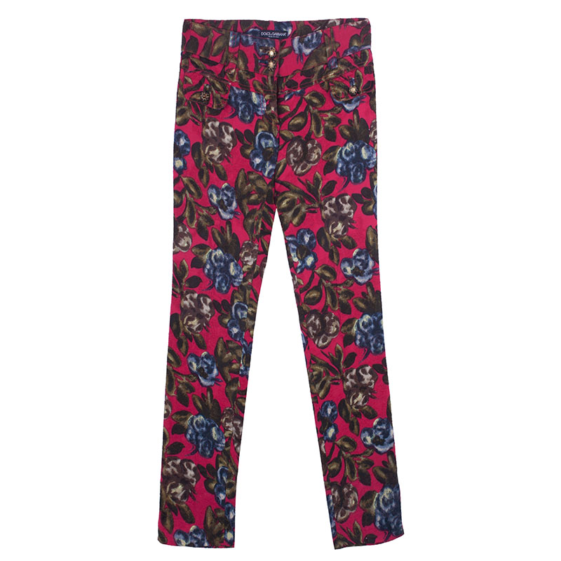 Dolce and Gabbana Floral Print Pants S
