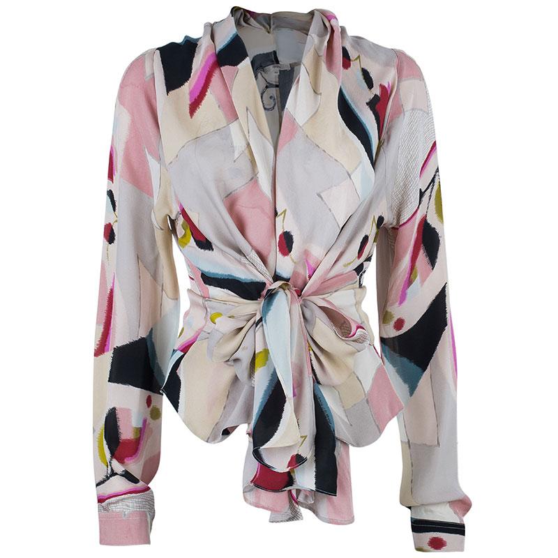 Kenzo Watercolor Silk Top L