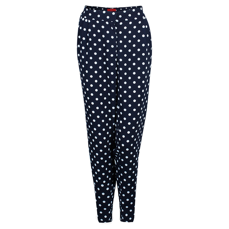 CH Carolina Herrera Navy Doted Trousers L