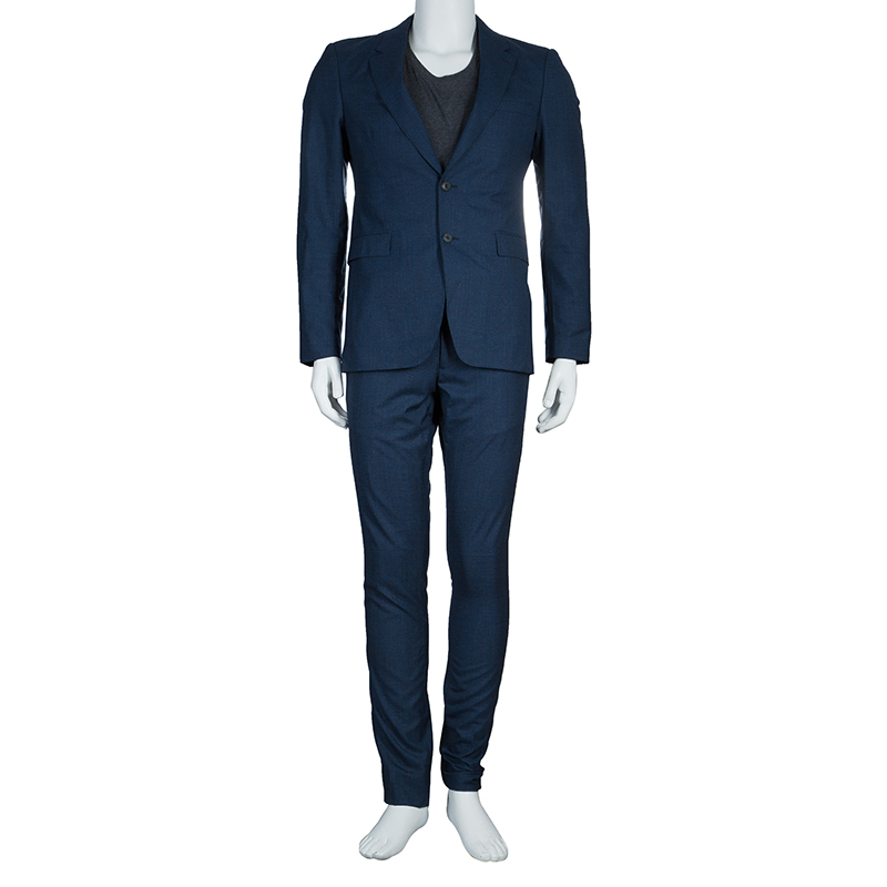 Burberry Blue Regular Fit Tailored Suit M Buy Amp Sell Lc