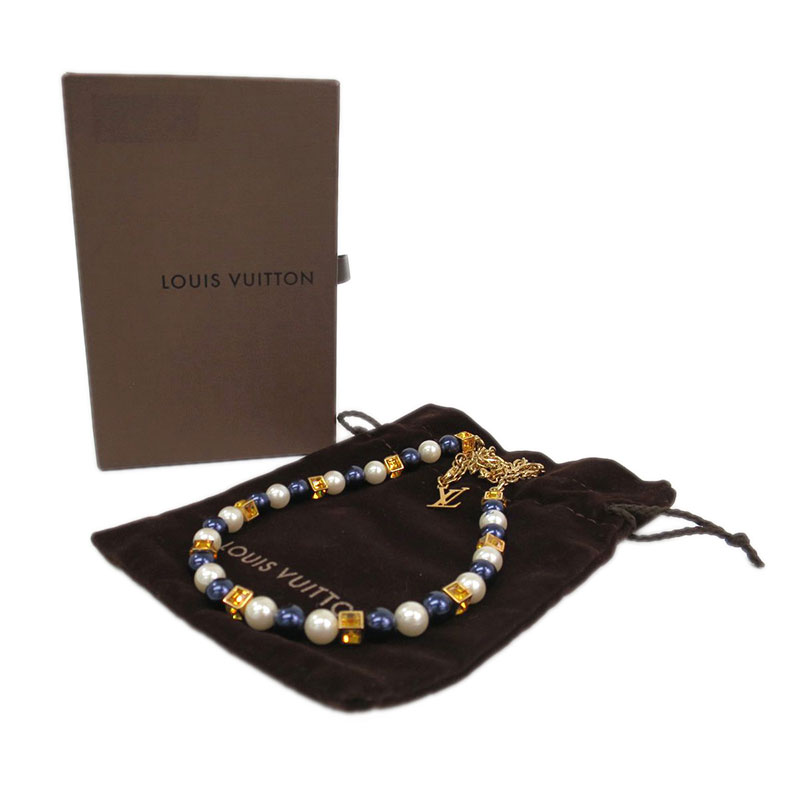 Louis Vuitton Speedy Faux Pearls Necklace