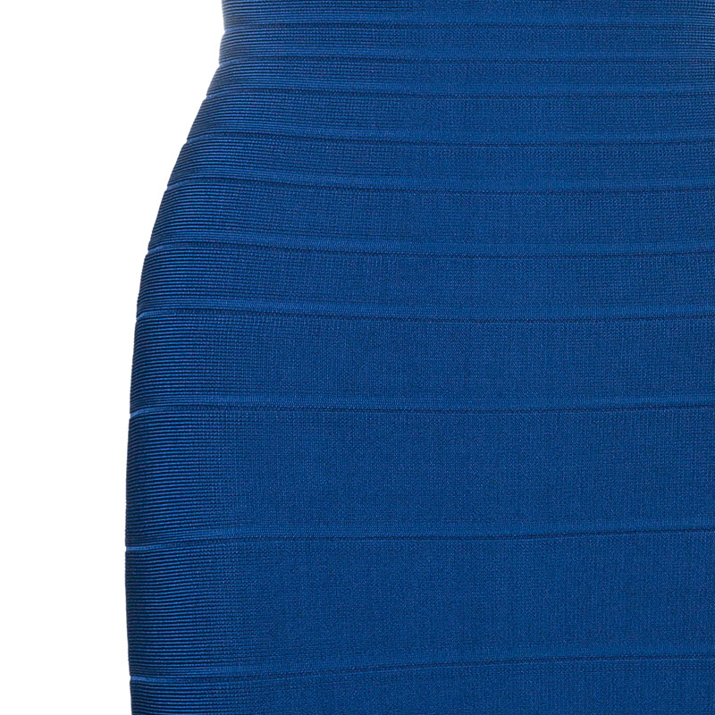 Herve Leger Sadie Teal Bandage Dress S