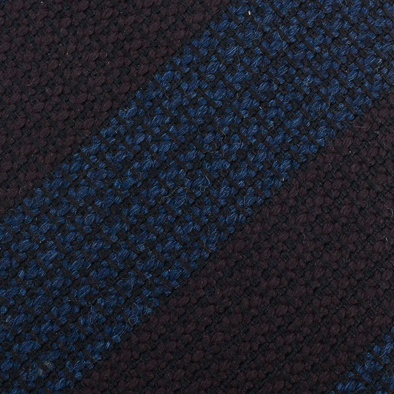 Burberry Blue and Brown Striped Silk Tie