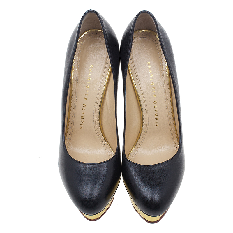 Charlotte Olympia Black Dolly Pumps Size 37
