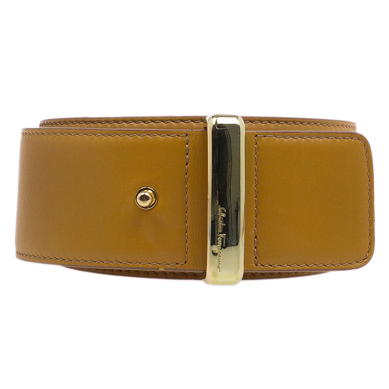 Salvatore Ferragamo Brown Leather Belt 80 CM