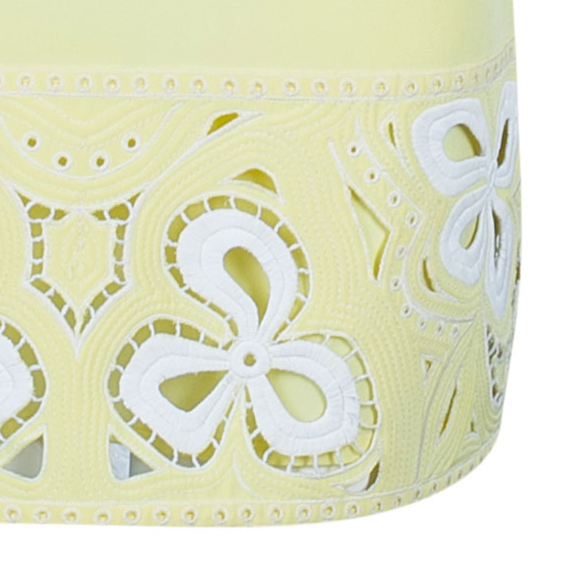 Emilio Pucci Lemon Yellow Lace Detail Dress S