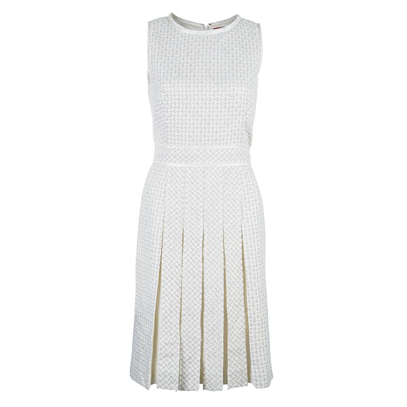 CH Carolina Herrera Cream Dress M