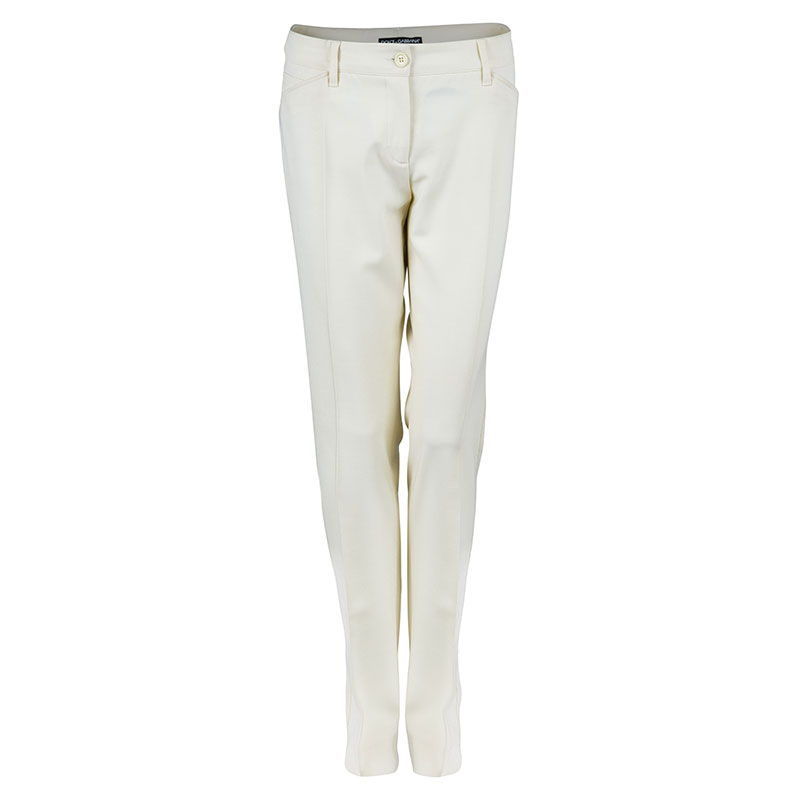 Dolce and Gabbana Off-White Trousers M