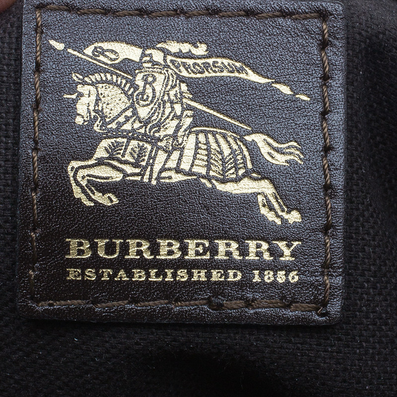 Burberry Brown Haymarket Classic Check Hobo Bag