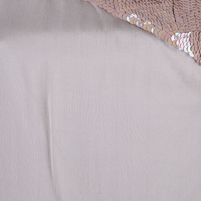 Alberta Ferretti Nude One Shoulder Top M