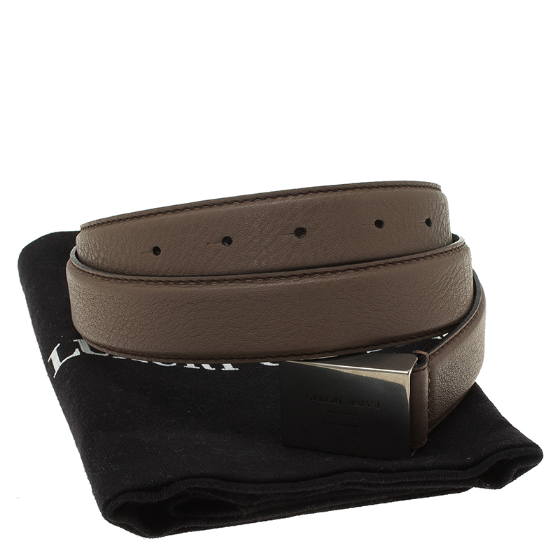 giorgio armani brown leather belt size 50 buy sell lc