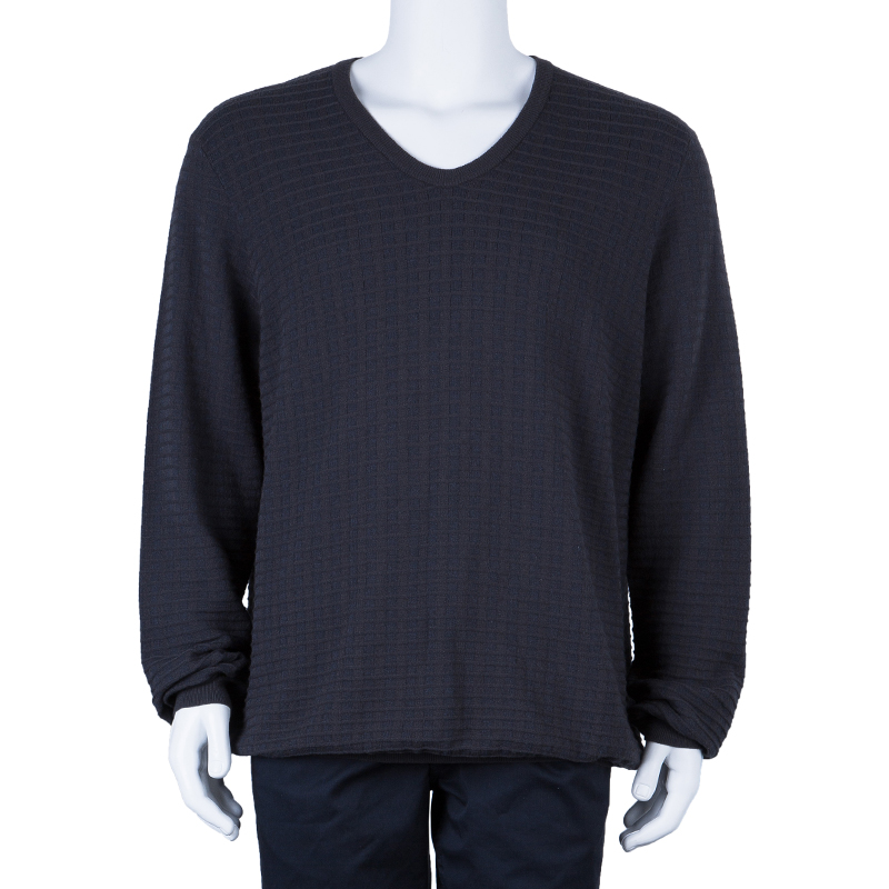 Giorgio Armani Men's Charcoal Knit Sweater XXL
