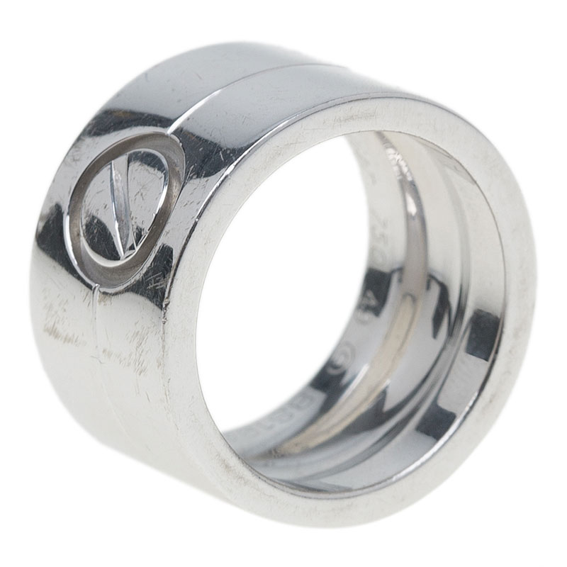 Cartier Love Wide White Gold Ring Size 49