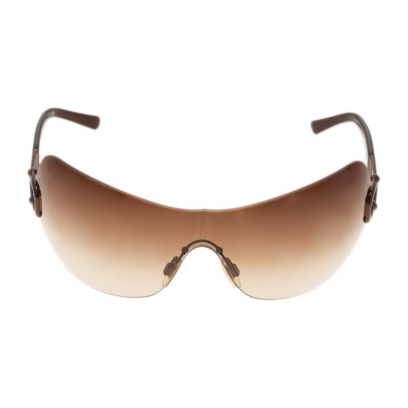 Burberry Brown 3014 Shield Sunglasses
