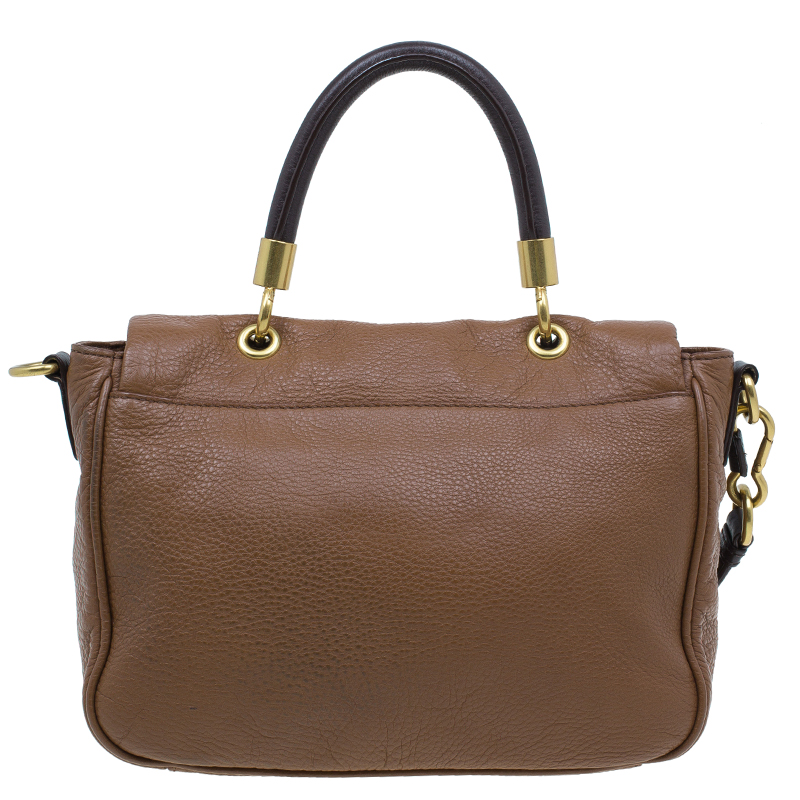 Marc by Marc Jacobs Brown Two Tone Leather Too Hot To Handle Shoulder Bag