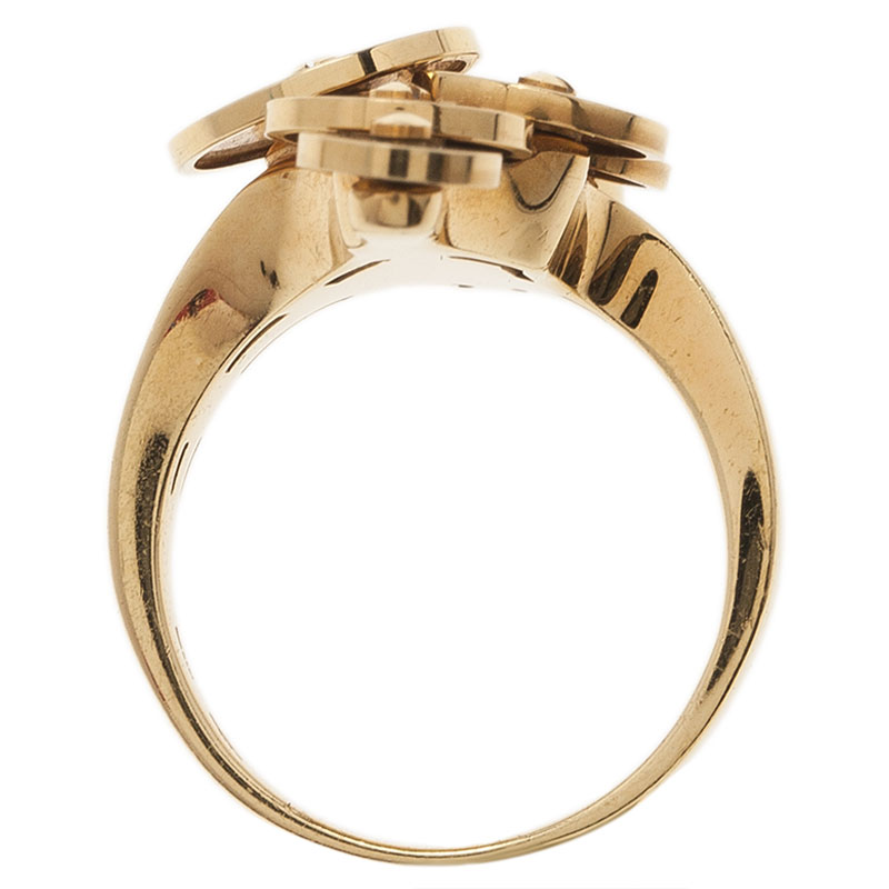 Bvlgari Cicladi Yellow Gold Ring Size 53