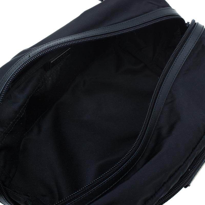 Prada Black Nylon Toiletry Case