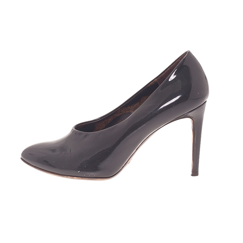 Dolce and Gabbana Black Patent Pumps Size 36