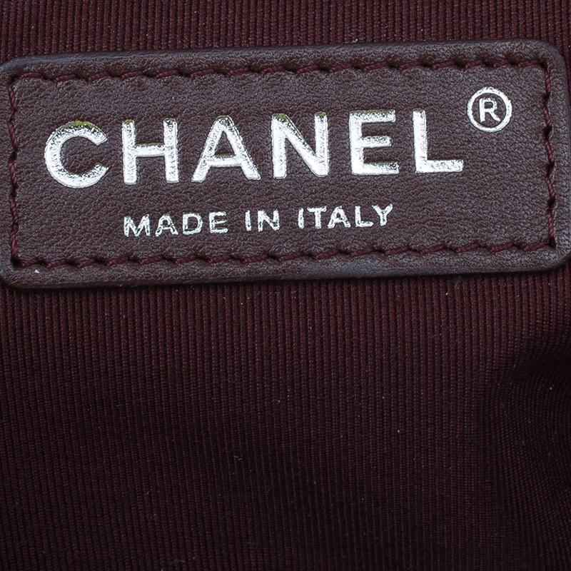 Chanel Burgundy Patent Leather Medium Boy Flap Bag