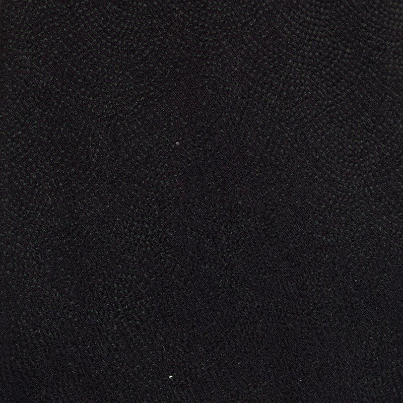 Giorgio Armani Black and Green Silk Tie