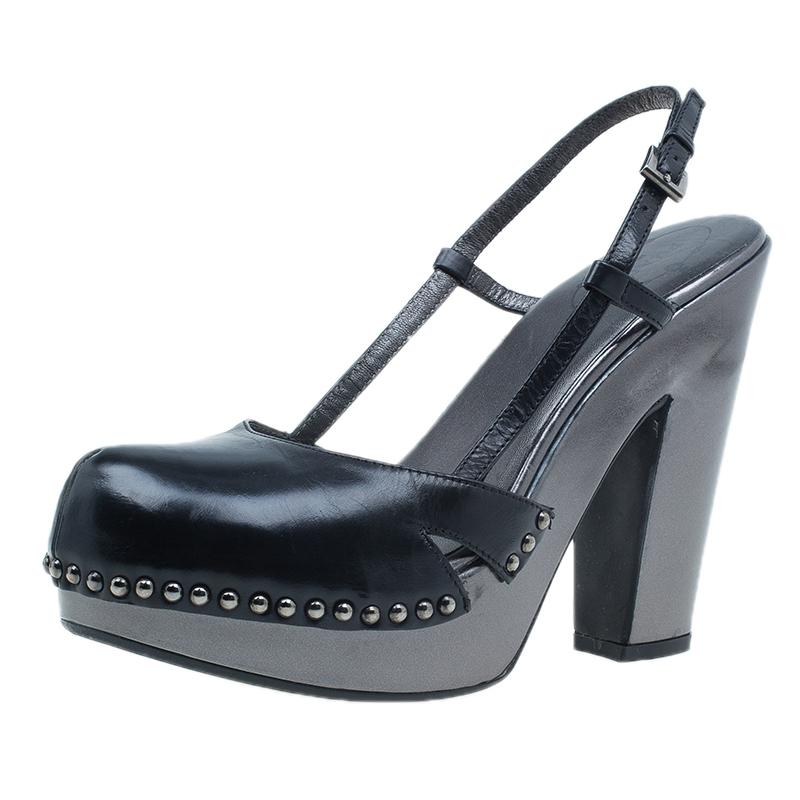 Prada Black Slingback Sandals Size 38