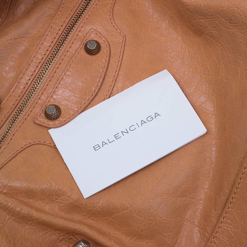 Balenciaga Rose Blush Lambskin Leather Giant 12 Rose Gold City Bag