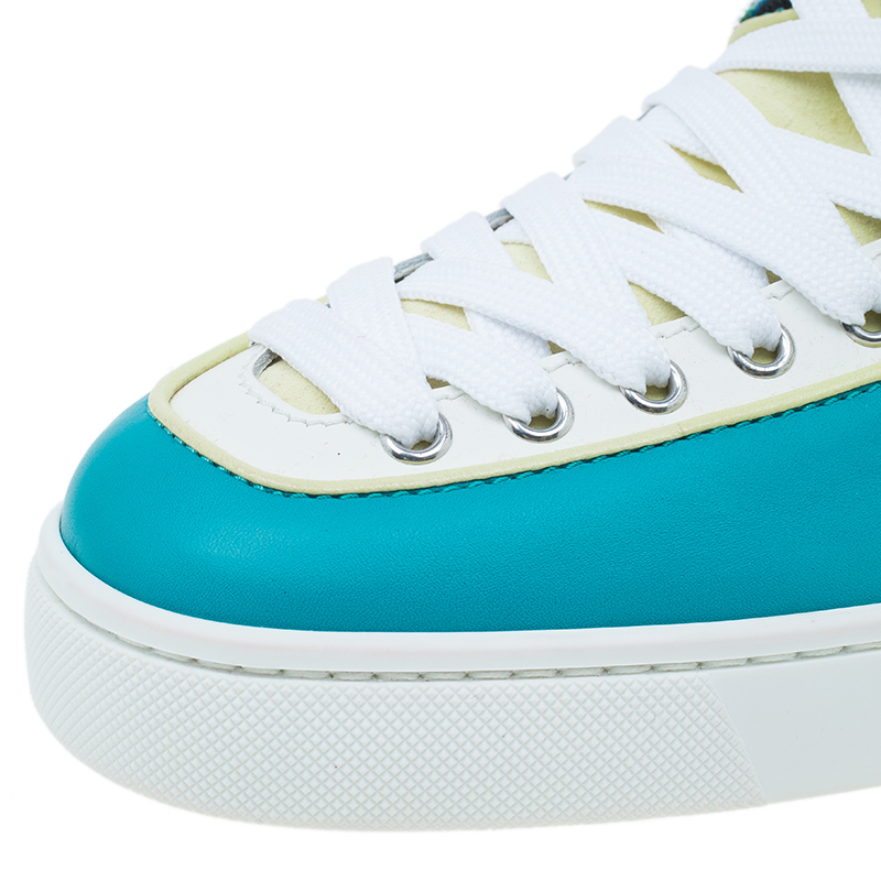 Christian Louboutin Tri Color Alfie High Top Sneakers Size 45