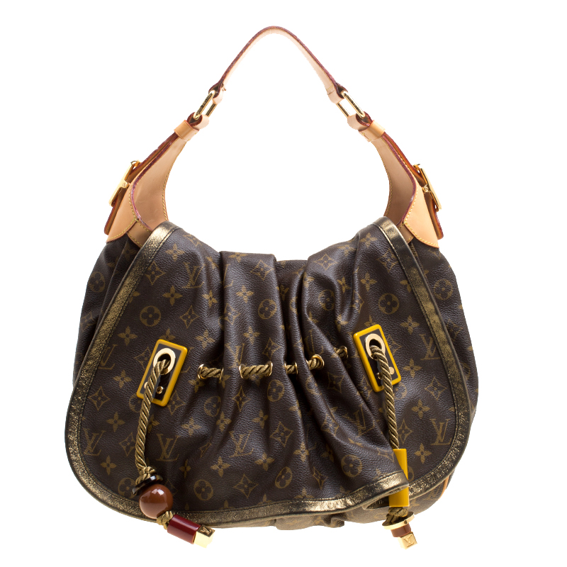 Купить со скидкой Louis Vuitton Monogram Canvas and Leather Limited Edition Kalahari GM Bag