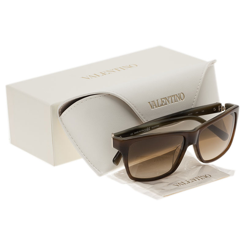 Valentino Light Brown V629S Square Sunglasses