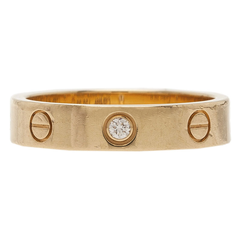 Cartier Love 1 Diamond 18kt Yellow Gold Wedding Band Ring