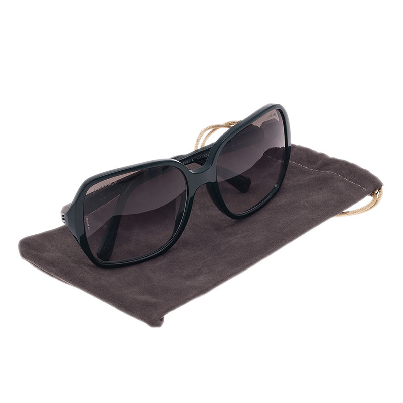 Chanel Dark Green 5284 Oversized Square Sunglasses