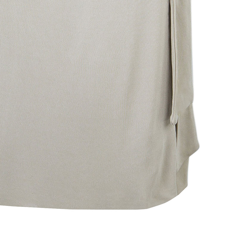 Diane von Furstenberg Beige Wrap Dress L