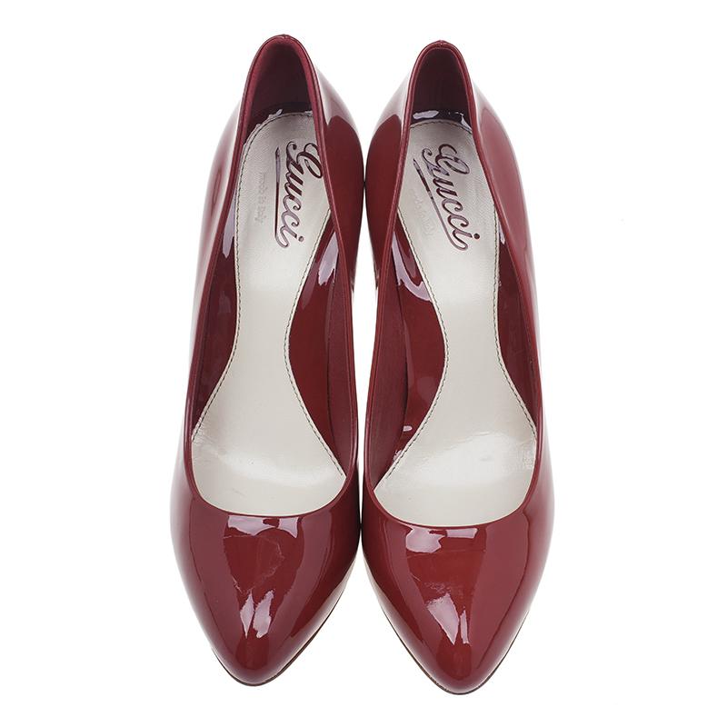 Gucci Red Patent Sofia Pumps Size 40