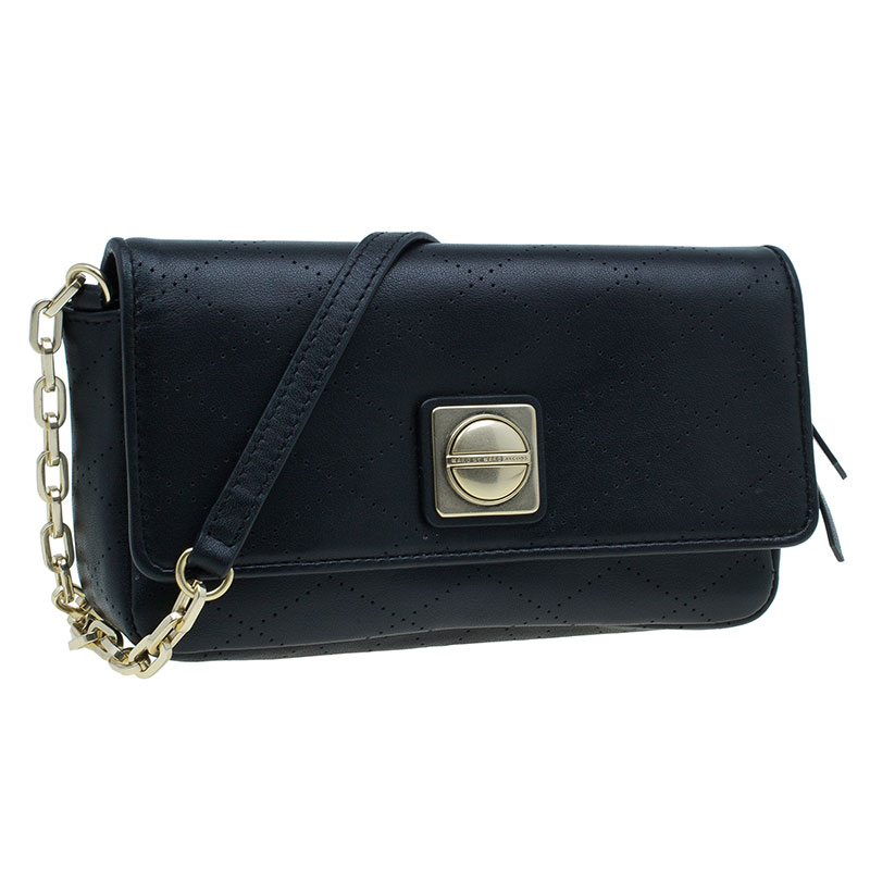 Marc by Marc Jacobs Black Leather Monica Crossbody Bag