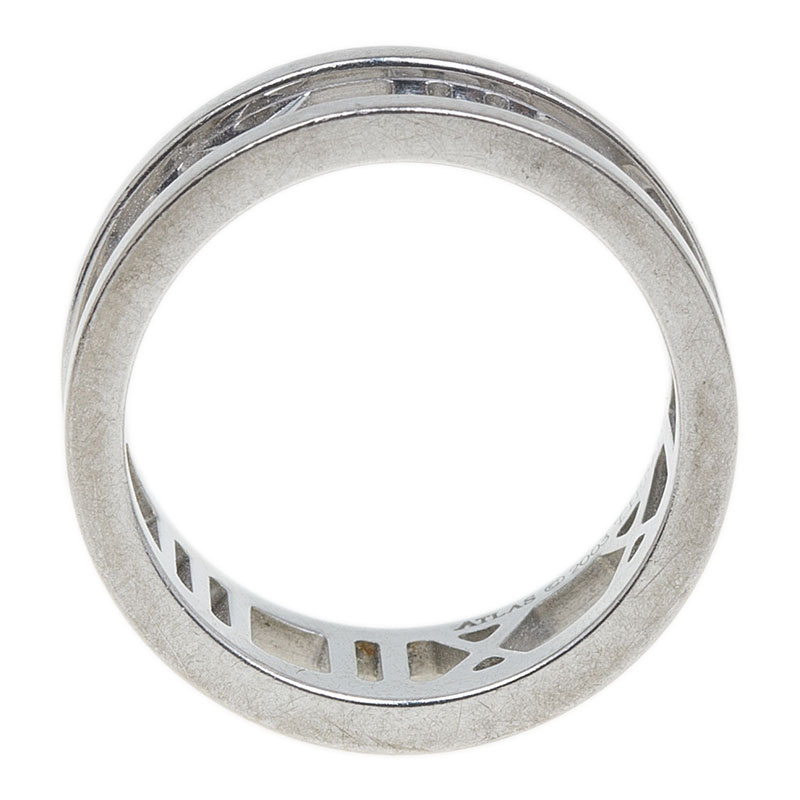 Tiffany & Co. Atlas White Gold Band Ring Size 47