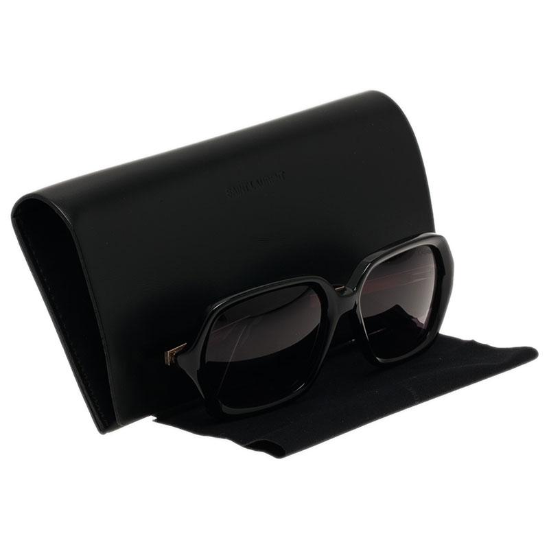 Saint Laurent Paris Black 6322 Geometric Sunglasses