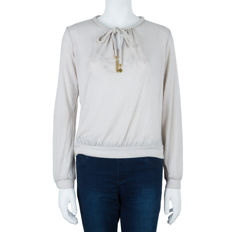Louis Vuitton Beige Long Sleeve Top M