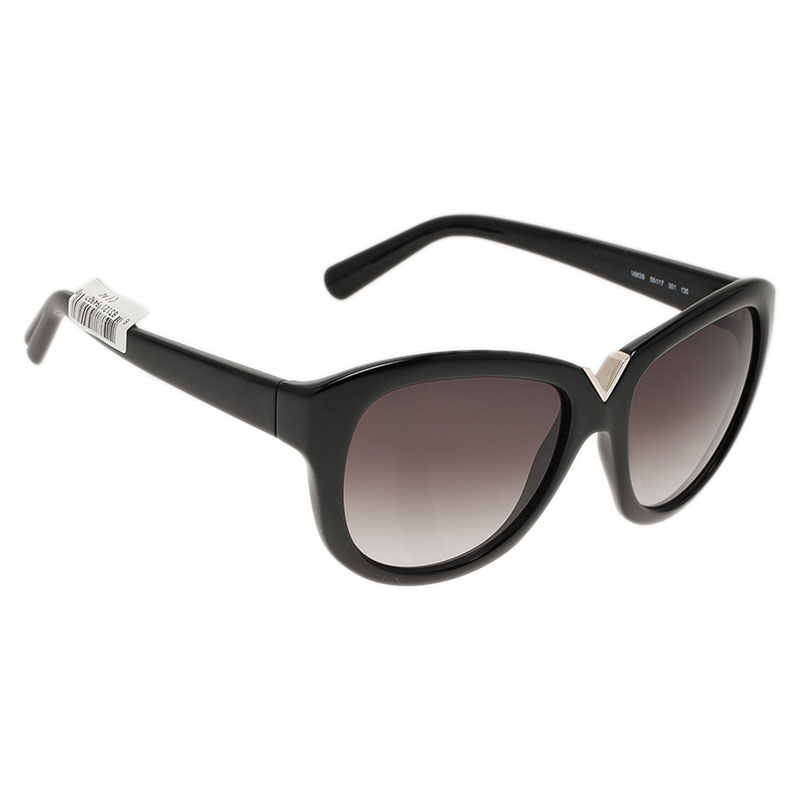 Valentino Black V663S Round Sunglasses