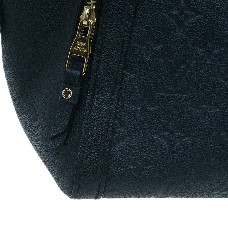 Louis Vuitton Black Monogram Empreinte Marais MM Bag