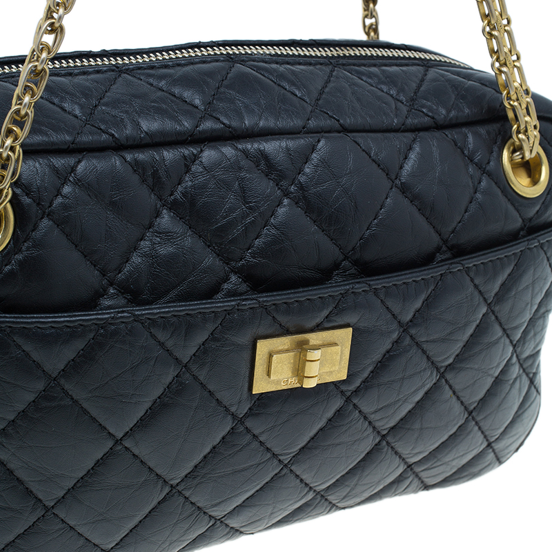 Chanel Black Leather Small Reissue Camera Bag
