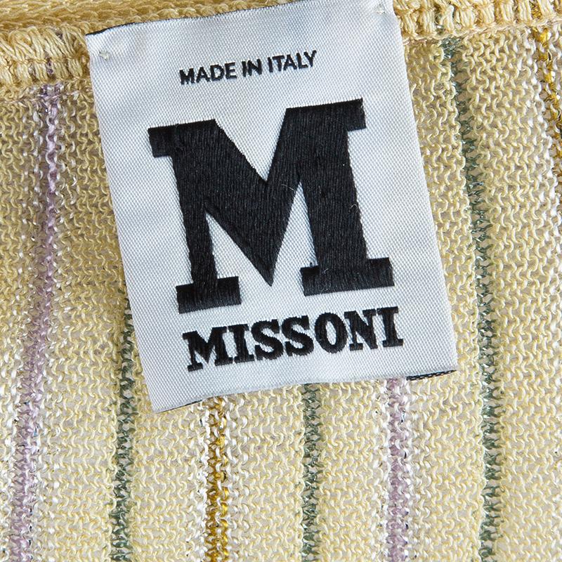 M Missoni Pastel Knit Sleeveless Dress S