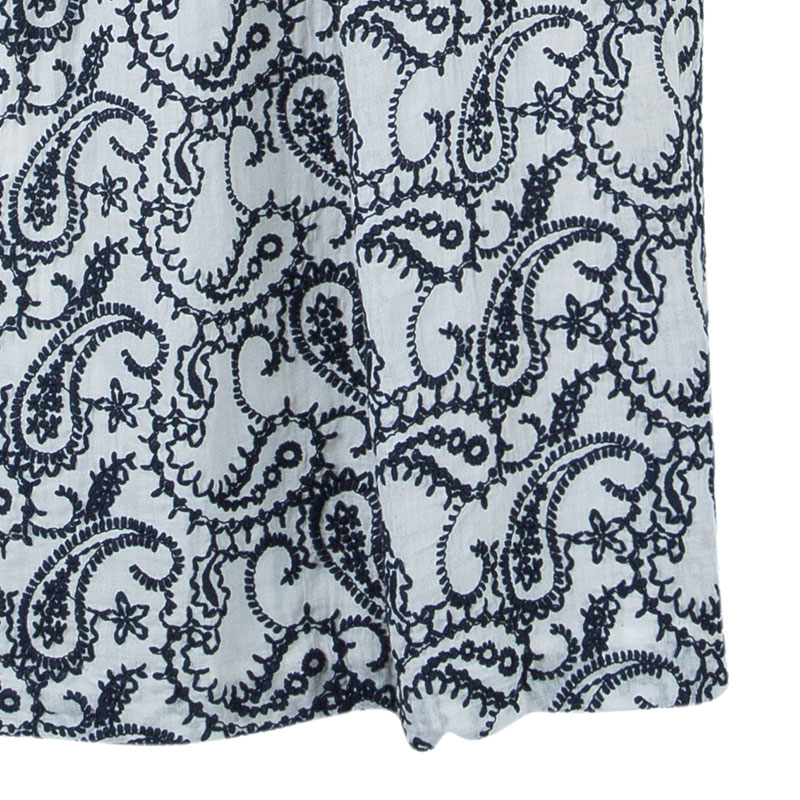 CH Carolina Herrera Paisley Embroidered Dress L