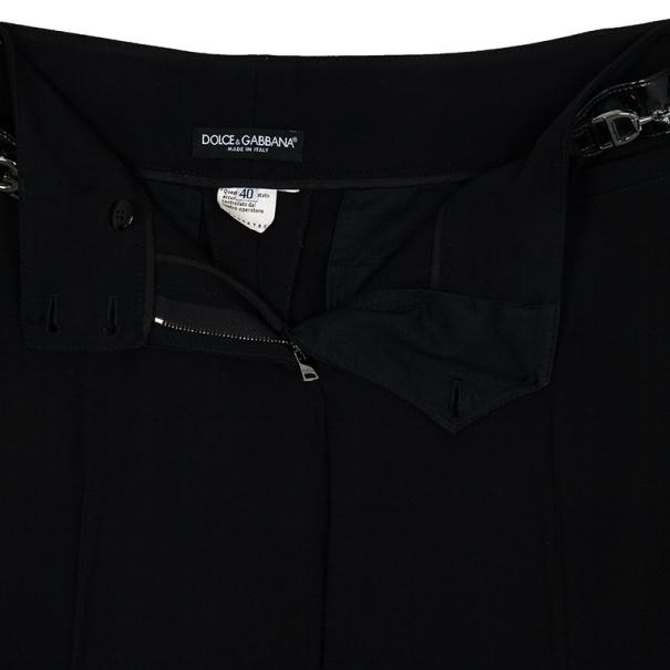 Dolce and Gabbana Horsebit Detail Pants S